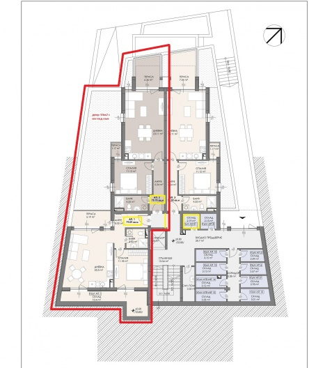 Апартамент с три спални и собствен двор в Созопол