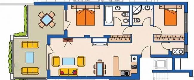 Продава изгодно апартамент с две спални в комплекс Калиакриа