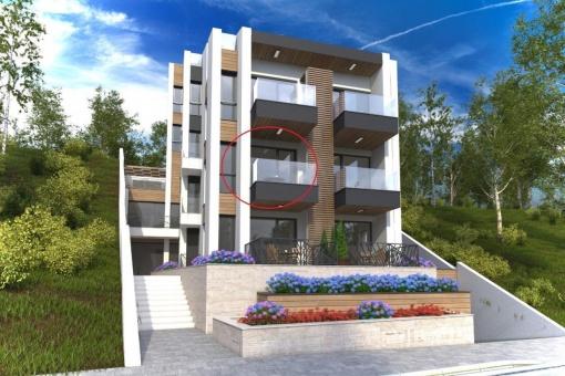 Апартамент с една спалня и гледка море в Созопол