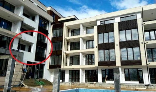 Двустаен апартамент на първа морска линия в Приморско