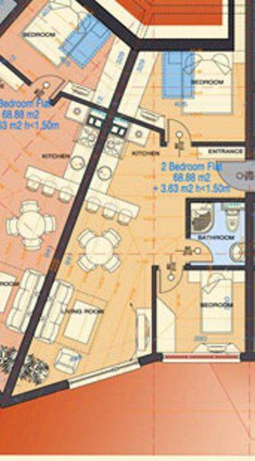 Тристаен апартамент на изплащане в Банско