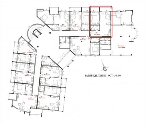 Голям двустаен апартамент в Слънчев Бряг